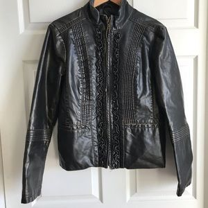 Big Chill Vintage distressed faux leather jacket